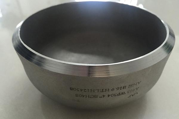 ASTM A403 WP304 Pipe Cap DN100 SCH40S