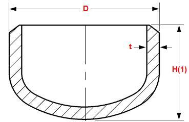 20180507143747 26687 - ASME B16.9 ASTM A403 WP316L Butt Weld Cap 14 Inch Sch40S