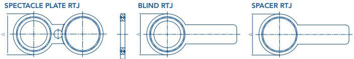 """20181130192437484240 - ASME B16.48 316L RTJ Spade Blind Flange 6"""" CL900 R45"""