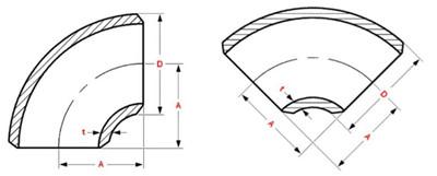"2018718814883575 - ASTM B366 Alloy 20 SMLS 60 Degree LR Elbow 2-1/2"" SCH40S"